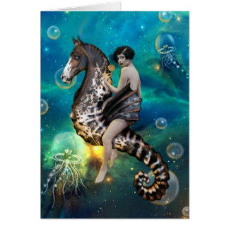 Seahorse - greeting card