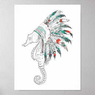 seahorse headdress poster