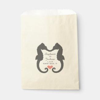 Seahorse Heart Favor Bag