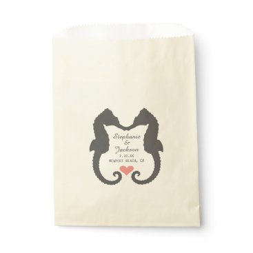 Valentines Themed Seahorse Heart Favor Bag