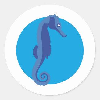 Seahorse - hippocampus classic round sticker