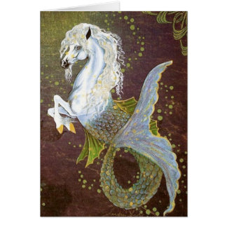 Seahorse Hippocampus Greeting Card