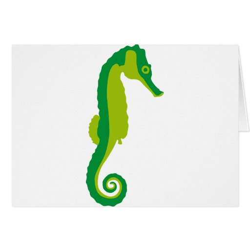Seahorse - hippocampus greeting card