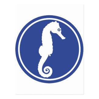 Seahorse - hippocampus postcard