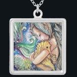 """SeaHorse Hugs Necklace<br><div class=""""desc"""">created from original art</div>"""