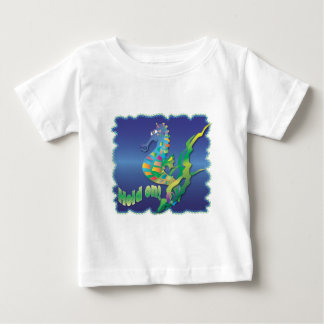 Seahorse-in blue infant t-shirt