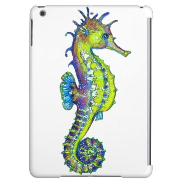 Beach Themed Seahorse Inky Lime iPad Air Cases