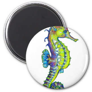 Seahorse Inky Lime Magnet