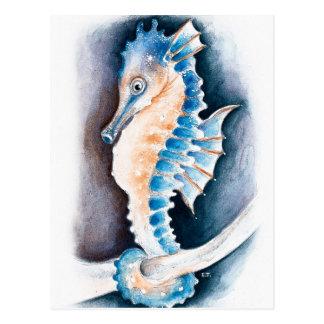 Seahorse Inky Postcard