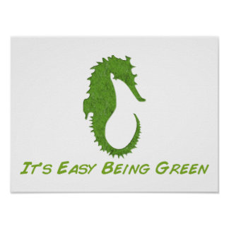 Seahorse It's Easy Poster