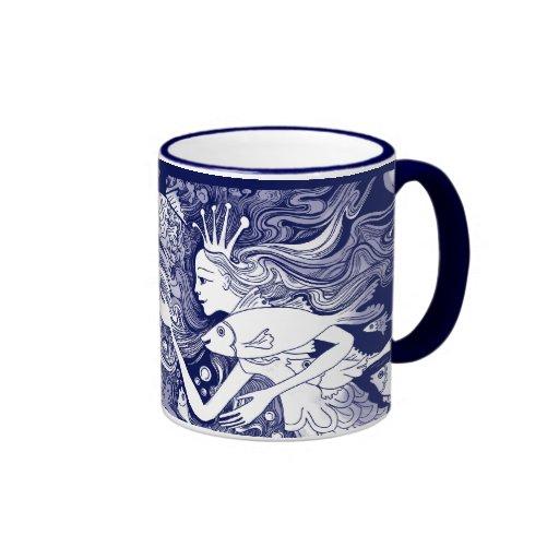 Seahorse kingdom ringer coffee mug