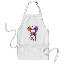 Seahorse Kiss Off-Leash Art™ Adult Apron