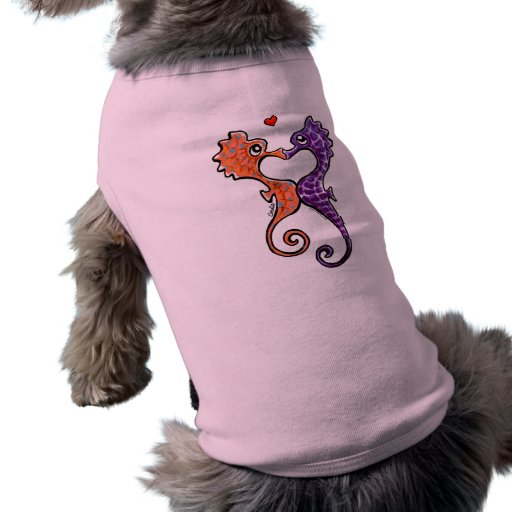 Seahorse Kiss Off-Leash Art™ Doggie Tee