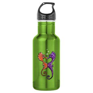 Seahorse Kiss Off-Leash Art™ 18oz Water Bottle
