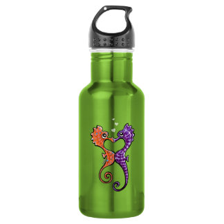 Seahorse Kiss Off-Leash Art™ Stainless Steel Water Bottle