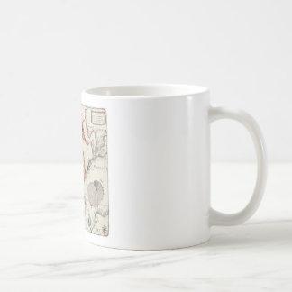 Seahorse lamentable taza de café