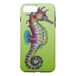 Seahorse Lime Green iPhone 7 Plus Case