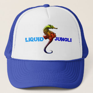 Seahorse Liquid Jungle trucker hat