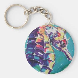 Seahorse Llavero Redondo Tipo Pin