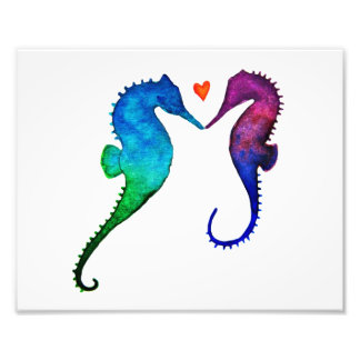 Seahorse Love Print Photo Print