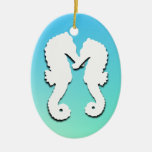 Seahorse Love, Tropical Photo Ornament