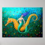 Seahorse mágico del paseo de la sirena impresiones