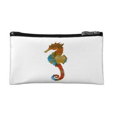 Beach Themed Seahorse Makeup Bag