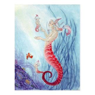 Seahorse merbabies! postcard