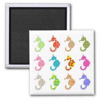 Seahorse modelado imán para frigorifico