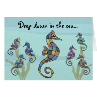 Seahorse Mother's Day Card Note Card