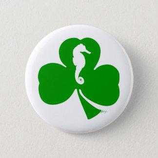 Seahorse n' Shamrock Pinback Button