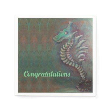 Beach Themed seahorse napkin