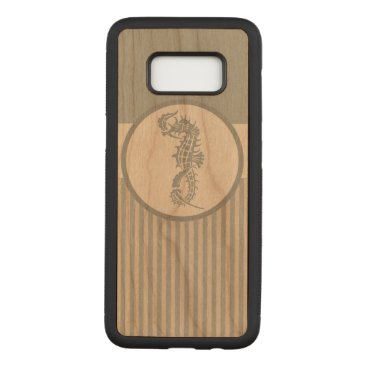 Beach Themed Seahorse Nautical Blue and White Carved Samsung Galaxy S8 Case