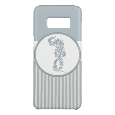 Beach Themed Seahorse Nautical Blue and White Case-Mate Samsung Galaxy S8 Case