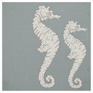 Seahorse Nautical Pattern Fabric