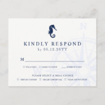 Seahorse | Nautical Themed Wedding RSVP Meals