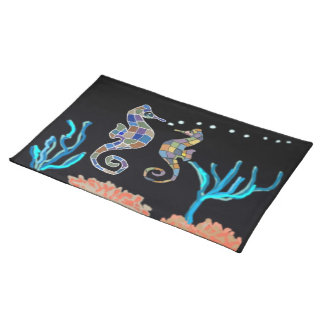 Seahorse Ocean Reef American Mojo Custom Placemats