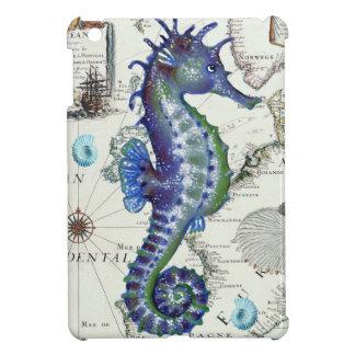 Seahorse Old Map iPad Mini Covers