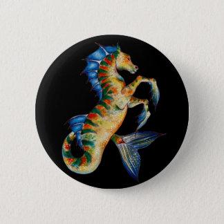 seahorse on black button