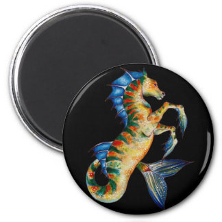 seahorse on black magnet