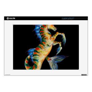 "seahorse on black skins for 15"" laptops"