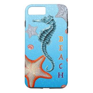 Seahorse on Blue iPhone 7 Plus Case