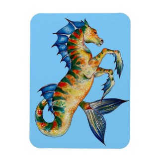 Seahorse On Blue Magnet