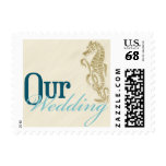 Seahorse Our Wedding Postage Stamps