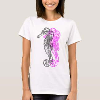 Seahorse Overlap Print T-Shirt