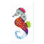 Seahorse Patchwork Pet Business Cards