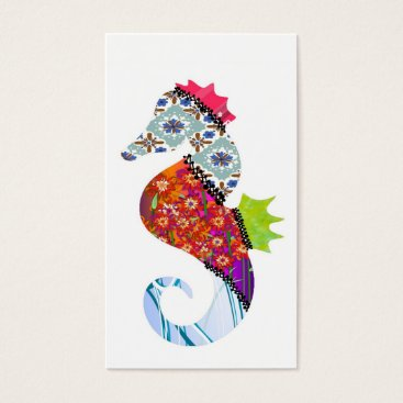 Professional Business Seahorse Patchwork Pet Business Cards