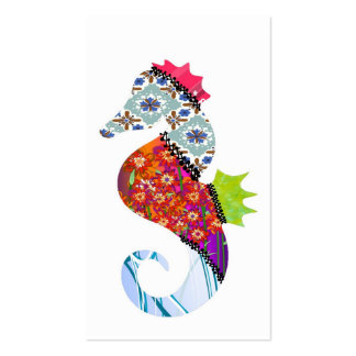 Seahorse Patchwork Pet Business Cards