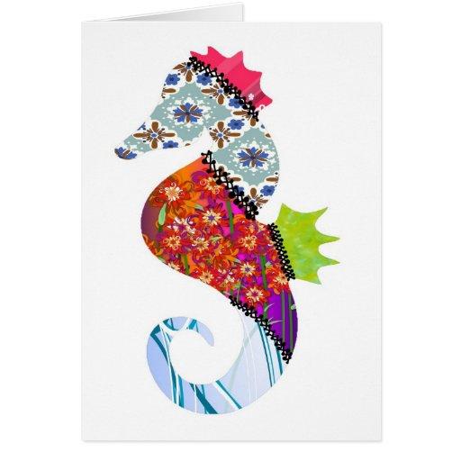 Seahorse Patchwork Pet Card
