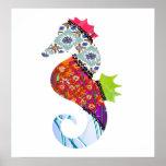 Seahorse Patchwork Pet Print